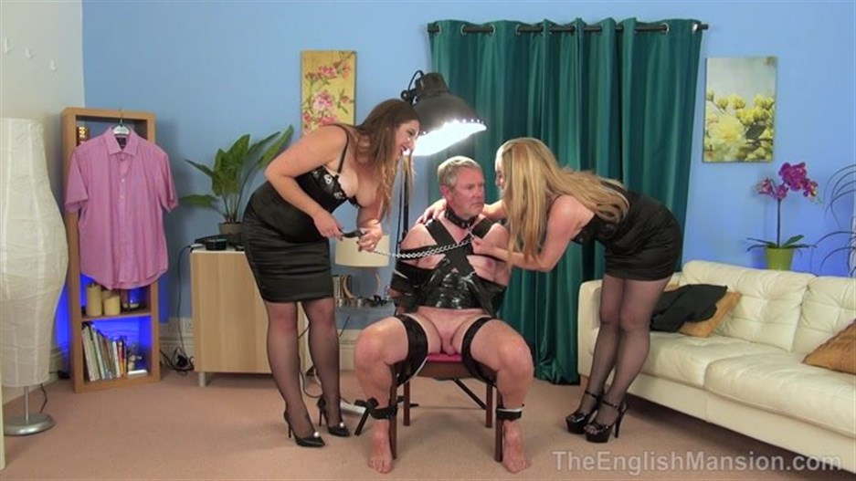 The English Mansion - Mistress Evilyne, Mistress Sidonia - Interrogated Broken Husband Part 1-4
