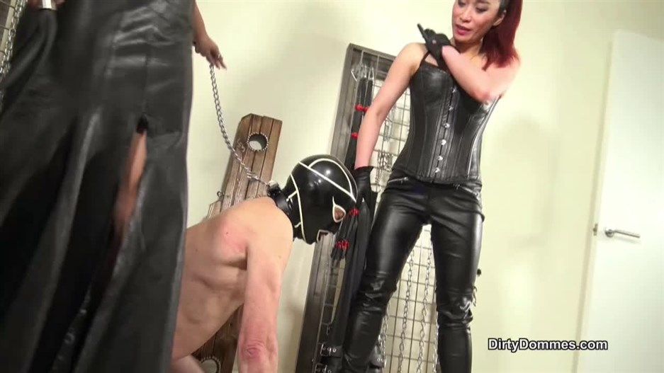 Dirty Dommes – Our sensual leather licker