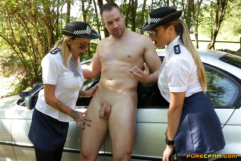 Purecfnm - Chantelle Fox, Crystal Coxx, Ruby Ryder - Police Frisking Movies