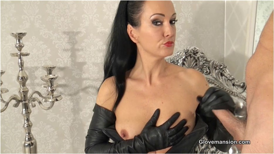 Glovemansion - Fetish Liza - Milked by My long leather gloves - pornevening.com