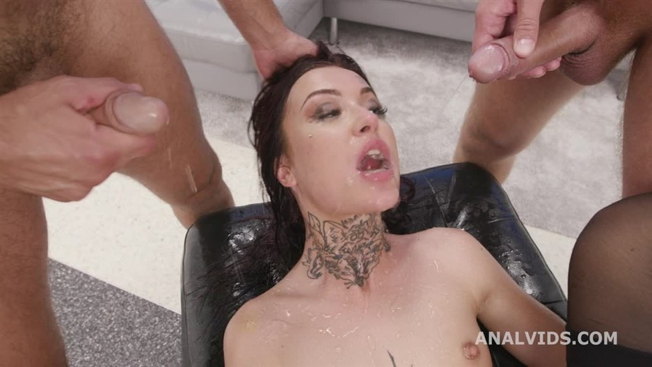 Tabitha Poison - Funneled. Tabitha Poison 6 On 1 Balls Deep Anal, DAP, Gapes, Pee Drink And Swallow GIO1581